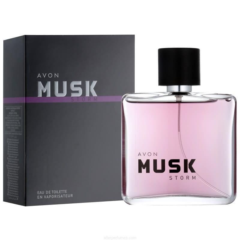 Avon Musk Storm Eau De Toilette Spray Woody Aromatic 75ml Alter Perfumes