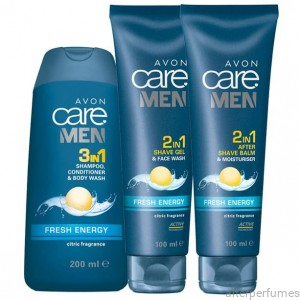 Avon - Care Men -  Fresh Energy Refreshing 3 Pcs. Set Citric